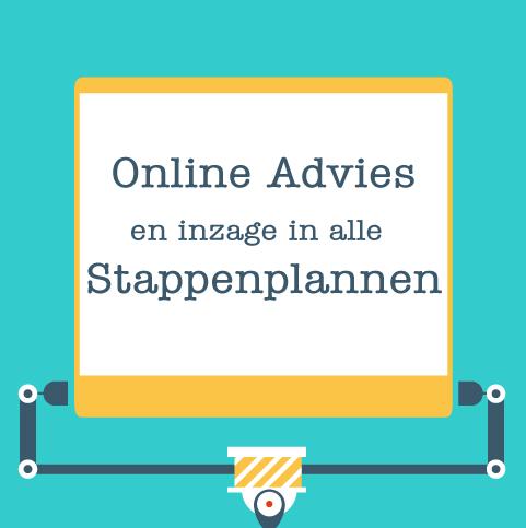 Online advies en inzage alle stappen
