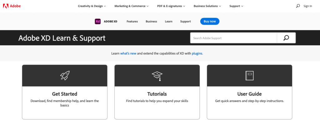 Weergave hulp pagina van Adobe